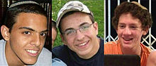 "Eyal Yifrach, Gilad Shaar, Naftali Frenkel, z""l in whose memory The Oz veGaon Nature Preserve was created in response to their murder. The boys were abducted close to the site of the park."
