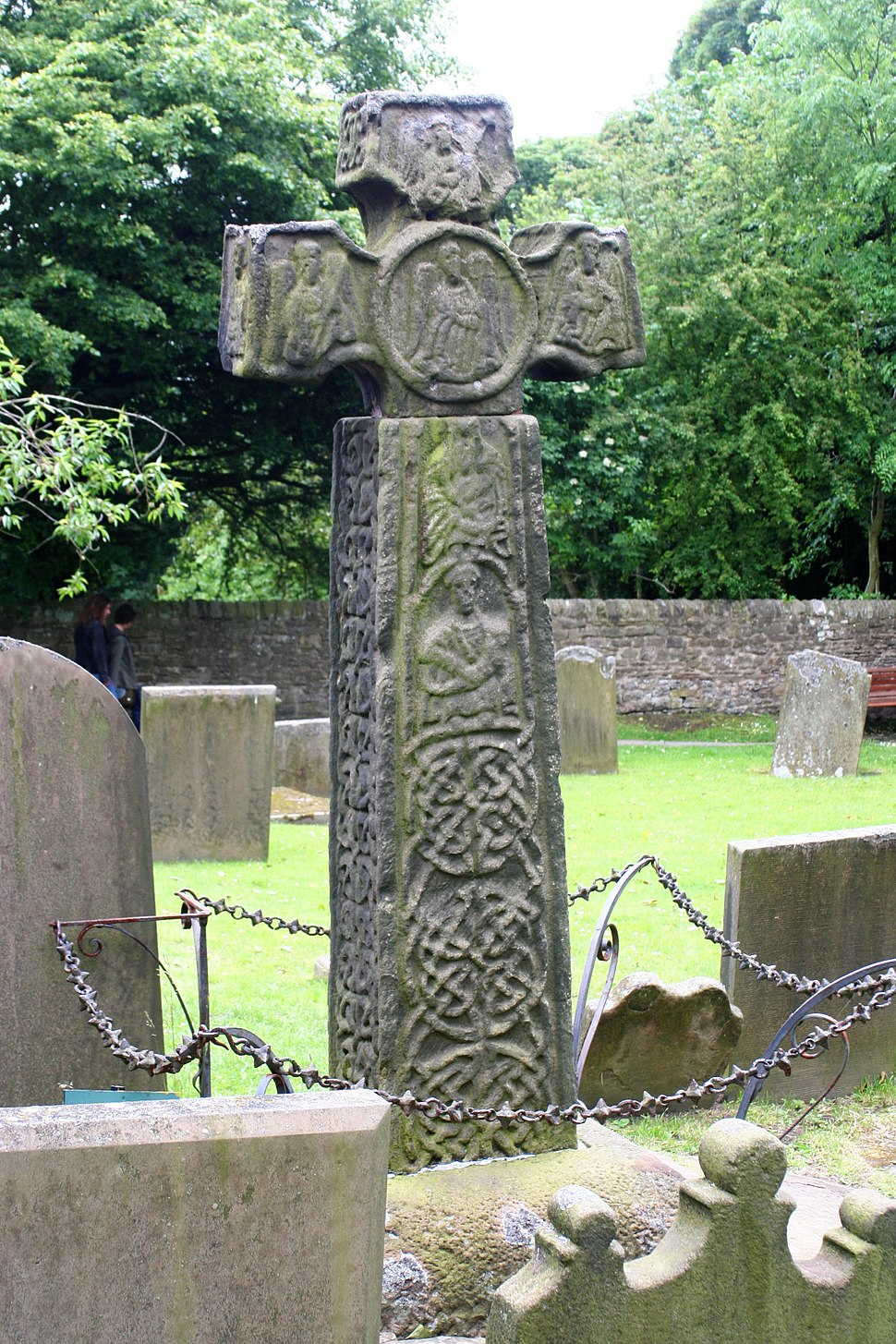 Eyam Celtic Cross, west side