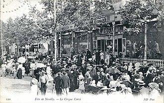 Parade de cirque - Fête de Neuilly, Le Cirque Corvi, c.1900