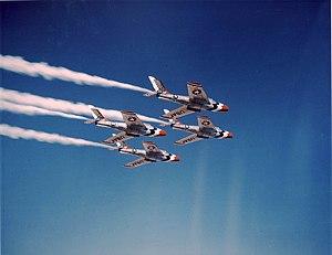 F-84F Thunderstreaks των USAF Thunderbirds