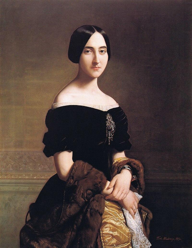 F. de Madrazo - 1850, María del Carmen de Aguirre Solarte, Marquesa de Molíns (Colección particular, Madrid, 103 x 80 cm).jpg