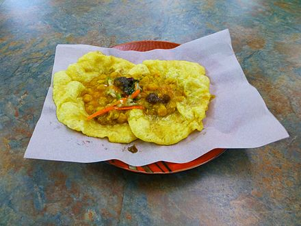 Doubles, one of the national dishes of Trinidad and Tobago FOOD Doubles 2.jpg