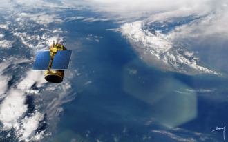 Formosat-5 - Artist's concept of Formosat-5 in orbit