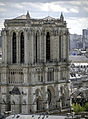 Façade de la Cathédrale Notre-Dame de Paris vue de la Tour Saint-Jacques, Paris août 2014.jpg