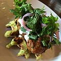 Falafel Waffle - merguez, yogurt, pickled onion, parsley. -awesome (14176421890).jpg