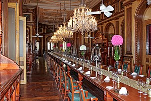 Falaknuma Palace - The dining hall