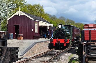 Hawthorn Leslie and Company - Falmouth Docks number 3 in steam at the Mid-Suffolk Light Railway