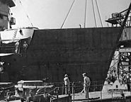 False bow being fitted to USS New Orleans