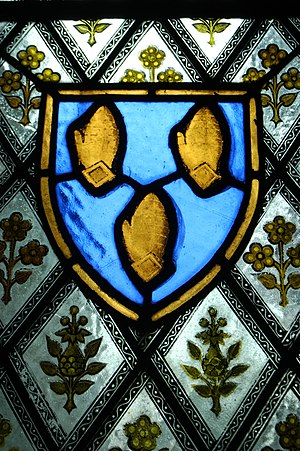 Earl of Westmorland - Fane shield in Fulbeck.