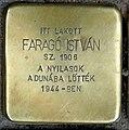 Faragó István stolperstein (Budapest-11 Bartók Béla út 52).jpg
