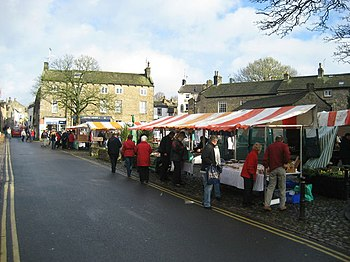 English: Farmers' Market, Grassington Held on ...