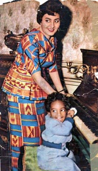 Fathia Nkrumah - Fathia Nkrumah with son Gamal
