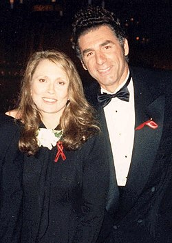 Faye Dunaway and Michael Richards at the 47th Emmy Awards Governor's Ball, September 11, 1994