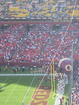 2006 Washington Redskins season - Image: Fed Ex Field Redskins Jaguars pregame field