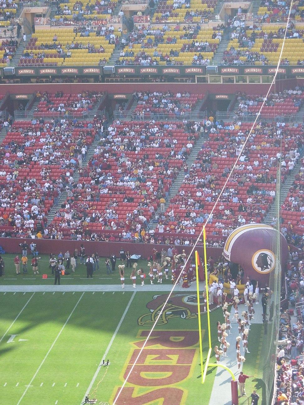 FedExField - Redskins Jaguars pregame field