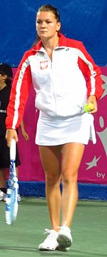 Fed Cup Group I 2011 Europe Africa day 2 Agnieszka Radwańska 001.jpg