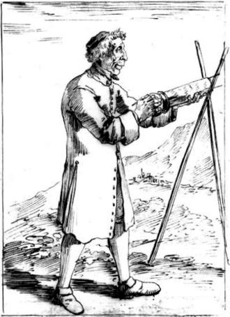 Francesco Bianchini - Francesco Bianchini holding the eyepiece mount of an aerial telescope