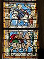Feigneux (60), église Saint-Martin, chœur, verrière n° 0, registres inférieurs.JPG