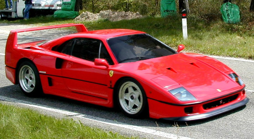 Ferrari F40 with tinted glass