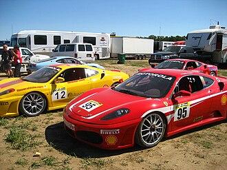 Ferrari Challenge - Ferrari F430 Challenge racer at New Jersey Motorsports Park, North American series (2008 season).