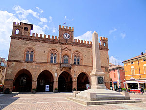 Fidenza - Town Hall and Garibaldi Obelisk