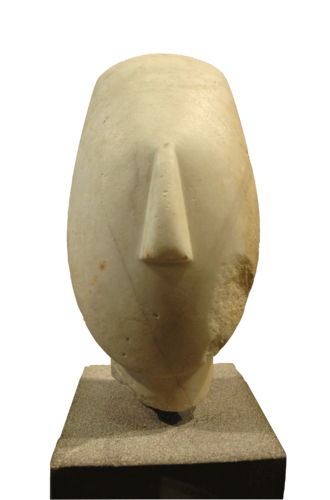 Keros - Head from the figure of a woman, 2700 BC–2300 BC, Keros culture