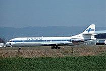 Finnair Caravelle Basle Airport - April 1976.jpg