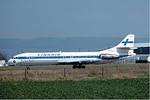 A Finnair Sud Aviation SE-210 Caravelle similar to the hijacked aircraft.