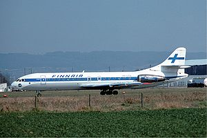Finnair Caravelle Basle Airport - April 1976.jpg