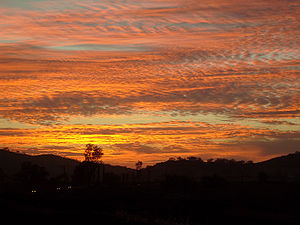 Atmospheric optics - A colorful sky is often due to scattering of light off particulates, as in this photograph of a sunset during the October 2007 California wildfires.