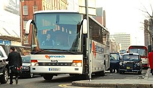 Aircoach - Setra 315 in Belfast in March 2009