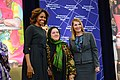 First Lady Michelle Obama and Deputy Secretary Higginbottom With 2014 IWOC Awardee Dr. Nasrin Oryakhil of Afghanistan (12935621383).jpg