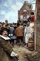 First Slave Auction 1655 Howard Pyle