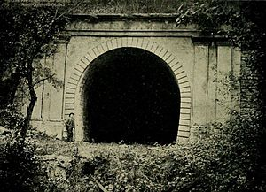 Main Line (Pennsylvania Railroad) - Portal of the abandoned tunnel of the Allegheny Portage Railroad near Johnstown, Pa., the first railroad tunnel in the United States