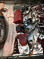 Fiskebryggen, Mathallen, Fishmarket, Bergen, Norway 2018-03-18. Thunnus (tuna, tunfisk), Dicentrarchus labrax (European bass, havabbor), Sparus aurata (Gilt-head bream, dorade), whale meat (hvalkjøtt), etc. Fjellskål sea food store.jpg