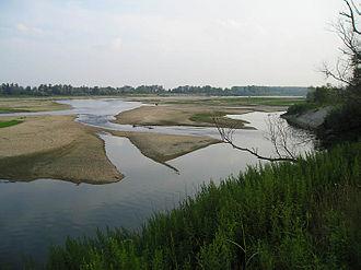 Lomellina - Image: Fiume Po a Balossa Bigli, Pavia, Italy