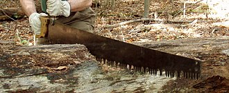 Crosscut saw - A five-foot lance-tooth crosscut saw