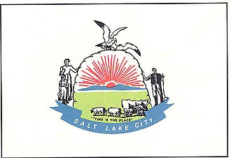 Flag of Salt Lake City - Old Salt Lake City Flag (1969-2006)
