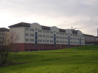 Cambuslang - Modern tenements in the Whitlawburn housing scheme