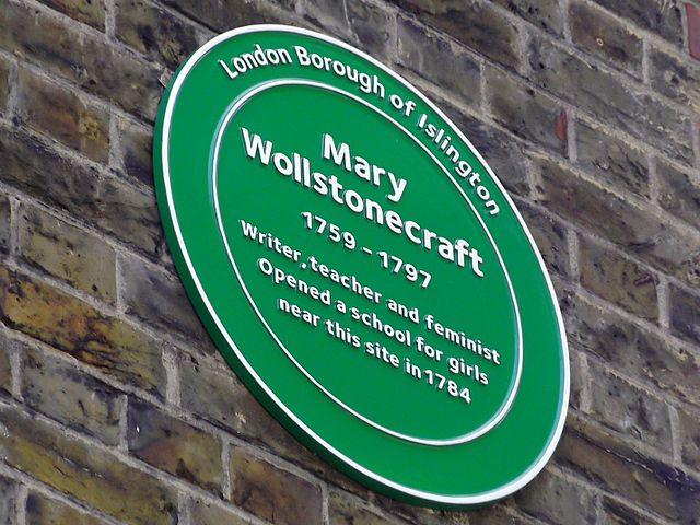 Photo of Mary Wollstonecraft green plaque