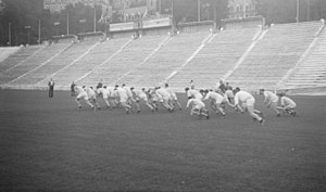 Percival Molson Memorial Stadium - Football practice in 1941