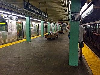 Forest Hills–71st Avenue (IND Queens Boulevard Line) - Manhattan bound platform