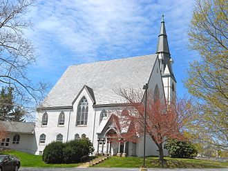 U.S. Route 322 in Pennsylvania - Forks of the Brandywine Presbyterian Church in West Brandywine Township