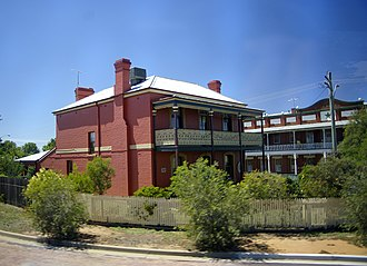 Station master - The former station master's house at Narrandera, Australia