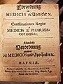 Forordning om Medicis og Apothekere av 4. desember, 1672 (Forside).jpg