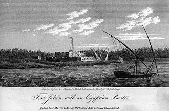 Siege of Fort Julien - Fort Julien, with an Egyptian Boat, 1803