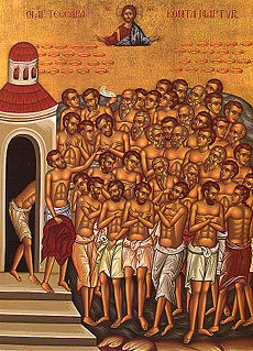 Forty Martyrs of Sebaste Roman soldiers and martyrs