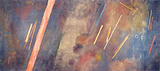 Lyrical abstraction - Ronnie Landfield, For William Blake 1968, a/c, 110 x 256 inches, exhibited: Tower 49, NYC, January 3, 2002–November 15, 2002. His work was included in the Lyrical Abstraction exhibitions at the Whitney Museum in 1970, the Sheldon Museum in 1993 and at the Boca Raton Museum in 2009.