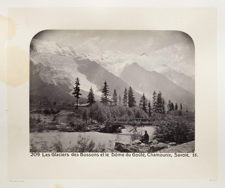 Fotografi av glaciärer i Frankrike - Hallwylska museet - 103166