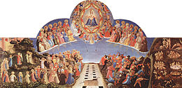 San Marco, Florence,The Day of Judgement, predella panel to surmount an altarpiece showing the precision, detail and colour required in a commissioned work.